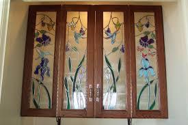 custom cabinet door art glass by sgo designer glass of los angeles