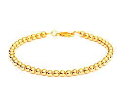 bracelet womens images 14k gold ball bead bracelet men and women 39 s bracelet 5mm jpg