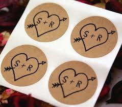 Custom Initials Wedding Stickers Rustic Arrow U0026 Heart Save The