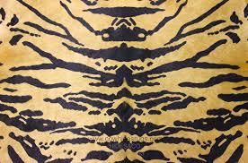 tiger print cowhide rug