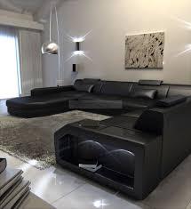 mega sofa upholstered sofa mega living environment prato with led