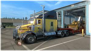 kenworth bus kenworth t800 cat skin 1 22 mod euro truck simulator 2 mods