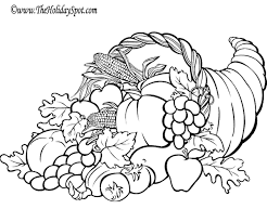 coloring nice cornucopia coloring 4263 thanksgiving