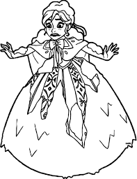 anna covered snow coloring wecoloringpage