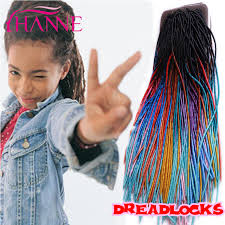 ombre crochet hairstyles ombre 20 crochet braid hair synthetic dread lock extensions 20