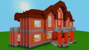 minecraft how to build a medium sized brick house brick design