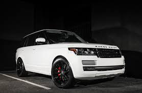 black land rover with black rims customized range rover exclusive motoring miami fl