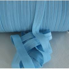elastic ribbon by the yard blue fold elastic foe 5 8 inch elastic by the yard