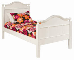 Girls White Twin Bed Emma Bed With Tall Headboard And Footboard Rosenberryrooms Com