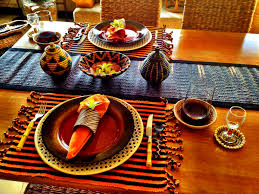 Informal Table Setting by My African Table Setting Mollys Wedding Pinterest Africans