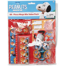 peanuts party favor pack value pack party supplies walmart com