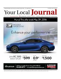 lexus financial po box address your local journal may 26th 2016 by your local journal issuu