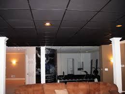 painting drop ceiling black