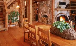 white pine and log cabins are a match these floors were