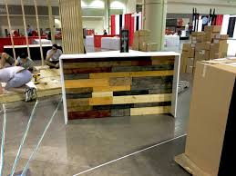 Industrial Reception Desk the karla industrial pallet style sales counter or reception