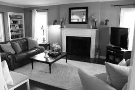 black and white living room with accent color traditional