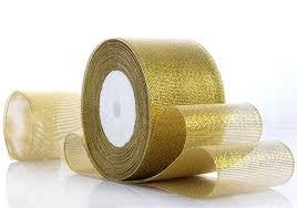 metallic gold ribbon 48yards 2 50mm width gold silver metallic glitter band gold