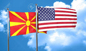 Macedonian Flag Macedonia Flag With American Flag 3d Rendering Stock Photo