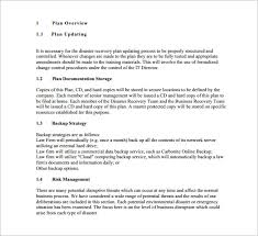 disaster recovery disaster recovery plan free u0026 premium templates