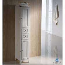 At Home By Antique White Tall Bathroom Linen Cabinet - Tall bathroom linen cabinet white