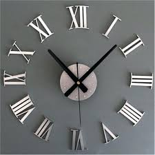 articles with roman numeral design wall clock extra large from