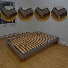 single 3ft custom made goring upholstered bed frame
