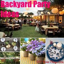 Backyard Birthday Decoration Ideas Backyard Birthday Party Decorating Ideas Image Inspiration Of