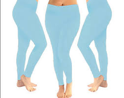 Light Blue Tights Blue Leggings Etsy