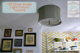 Drum Shade Ceiling Light Fixtures Diy Ceiling Mount Drum Shade Light Fixture Tutorialdiy Show