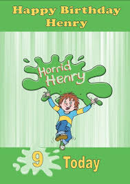 Personalised Horrid Henry Birthday Card