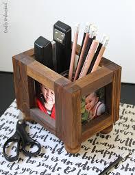 Wood Desk Organizer Diy Desk Organizer Wood Photo Frames Consumer Crafts