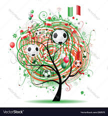 football tree design mexican flag royalty free vector image