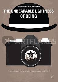 the incredible lightness of being no408 my the unbearable lightness of being minimal movie poster
