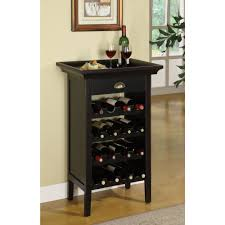 Dining Room Table With Wine Rack Wine Rack Table With Removable Tray Compact Perfect For Small