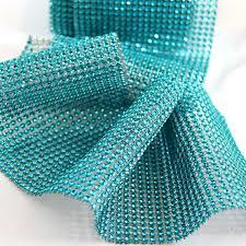 diamond mesh ribbon turquoise diamond wraps ribbon rhinestone ribbon