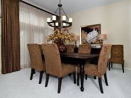dining room crystal chandelier and easy fall centerpieces in sheer curtain and round pendant lighting in traditional