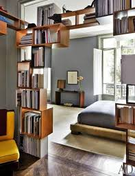 bedroom unique book shelves room dividers for masculine bedroom