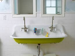 Double Trough Sink Bathroom Vanity How To Cleaning Farmhouse Bathroom Vanities Other Types