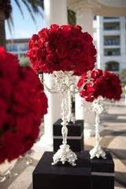 Red Rose Table Centerpieces by Red White And Black Table Settings Table Settings Weddings And