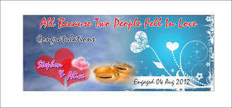 congratulations engagement banner of s journey bff half finish engagement banner