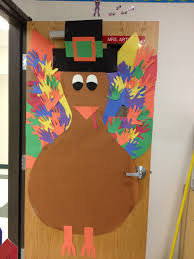 classroom door decor thanksgiving and i would add the handprints