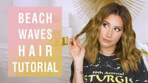 beach waves hair tutorial ashley tisdale youtube