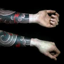 forearm sleeve manly guys japanese cloud design inspiration