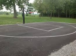 pro dunk silver on an asphalt half court basketball court photo