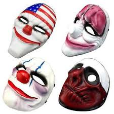 scary clown mask payday 2 halloween mask for antifaz party ebay