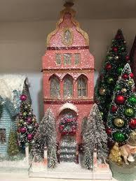 christmas houses putz houses theholidaybarn
