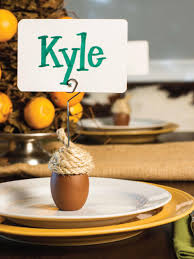 thanksgiving name card holders 15 stylish thanksgiving table settings hgtv