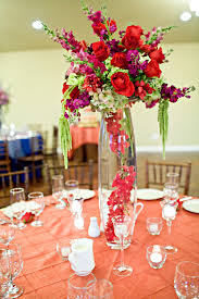 Red Roses Centerpieces Tall Purple And Red Rose Centerpiece Elizabeth Anne Designs The