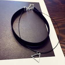 multi layer pendant necklace images N757 multilayer chokers necklaces for women triangle geometric jpg