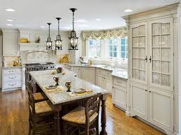 Laminate Wood Flooring Kitchen French Style Kitchen Black Range On Brown Laminate Wooden Floor